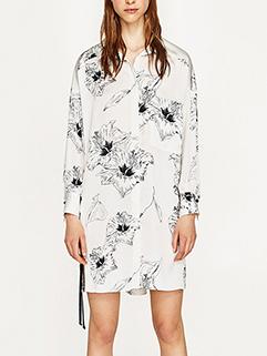 Fashion Bind Printed V-Neck Chiffon Long Dress ( 3-4 Days Delivery )