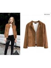 European Style Single Breasted Short Coat