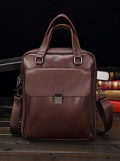 One Shoulder Hasp Zipper Men Businese Briefcase
