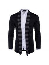 Fashion Personality Stripe Men Cardigan Sweater