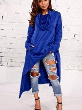Street Wear Long Sleeve Asymmetrical Hem Dress