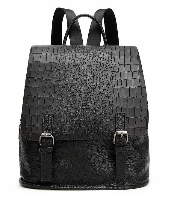 Crocodile Prints Simple Design Backpack