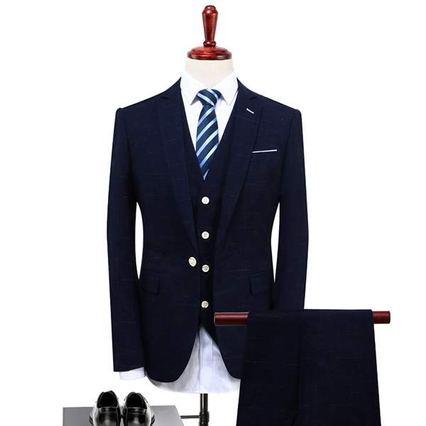 New Single Breasted Solid Tailoring Men Suit