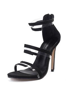 Stylish Color Block Stiletto Sandals