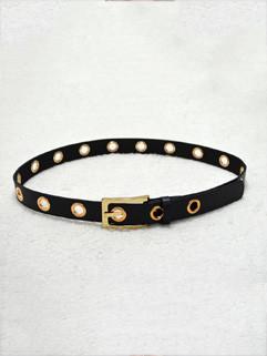 Simple Style Porous Fashion Belt