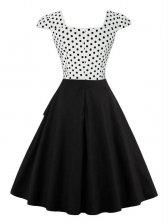 Retro Style Dots Asymmetric Fluffy Dress