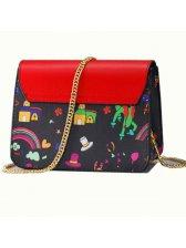 Sweet Cartoon Printing Chain Shoulder Bags