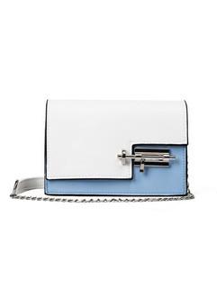 Korean Contrast Color Fashion Chains Shoulder Bag