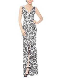 Diamond High Slit Lace Floral Evening Dress