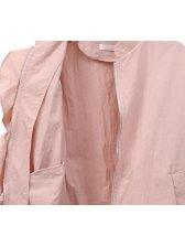 Easy Match Solid Ruffles Zipper Coat