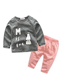 Cozy Long Sleeve Printed Infant Sleeper Suits