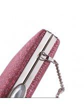 Chic Zipper Diamond Brightly Evening Clutch Bag