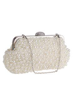 Handmade Pearls Design Fashion Dinner Clutch Bag