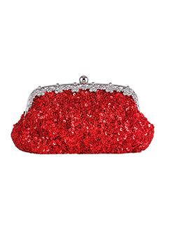 Sequins Design Diamond Vintage Clutch Bag for Brides