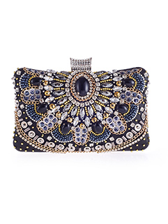 Noble Beading Diamond Evening Bag for Party