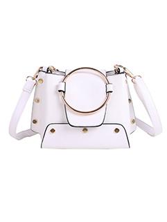 Big Buckle Decor Chains Shoulder Bag