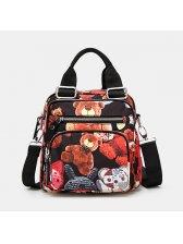 Cute Bear Zipper Oxford Multi-function Woman Backpack