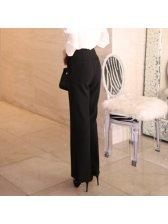 Fashion High Waist Solid Flare Pants