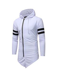 Individual Asymmetrical Hooded Zipper Up Men Hoodies