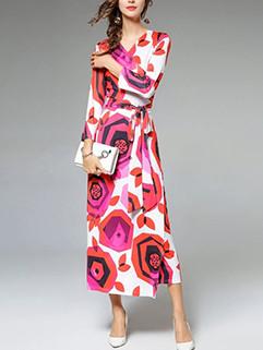 Wholesale Online Buy Floral Wrap Maxi Dress
