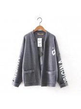 Stylish Hand Pattern Cardigan Sweater With Pockets(3-4 Days Delivery)