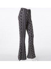 New Printing Floral Bohemian Wide Leg Pants