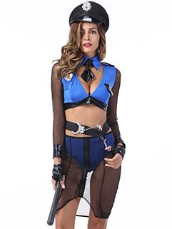 Newly Sexy Perspective Policewomen Uniform Cosplay Halloween