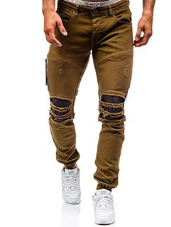 New Style Hole Youthful Skinny Men Jeans