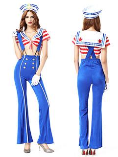 Sexy Women Navy Suit Halloween Costumes