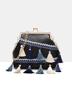 Tassel Design PU Chains Shell Shoulder Bags