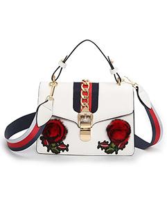 Fashion Rose Embroidery Shoulder Bag