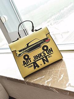 Korean Letter Printing Chic Crossbody Bag