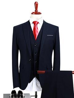 Stylish Fitted Tailoring Simple Design 3Pcs Men Suit