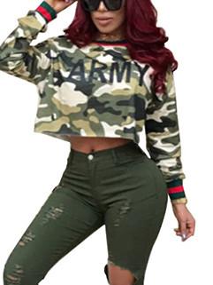 New Arrival Camouflage Prints Woman Sweatshirt