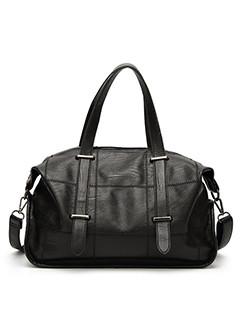 Travel Zipper Fashion Patch Tote Bag