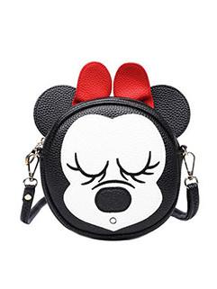 Lovely Cartoon Design Bow Zipper Crossbody Bag