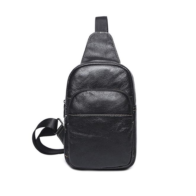 Korean Litchi Pattern Outdoor Chest Bag
