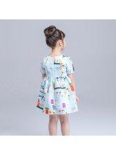 Newest Graffiti Print Dresses For Girls