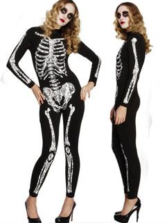 Unique Skull Costumes Women Skinny Jumpsuit