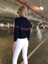 Classical Look Crew Neck Stripe Shirt