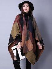 Stylish Ethnic Plaid Pashmina Scarves for Woman