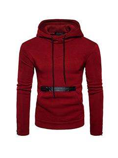 Korean Hooded Pocket Design Pullover Hoodies