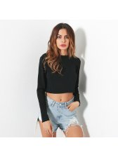 Punk Style Metal Chains Backless Pullover Top