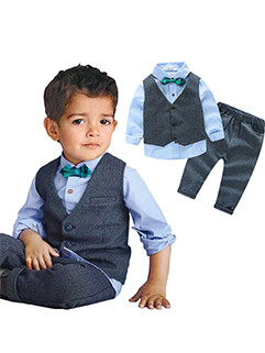 UK Style Gentleman 3 Pieces Suit For Boys (3-4 Days Delivery)