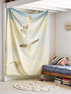 Fresh Bird Printing Polyester Beach Blanket