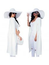 Hot Selling Personality Fitted Solid Long Coat