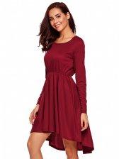 Exquisite Design Solid Smart Waist Long Dress