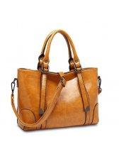 Newest Oil Wax Zipper Tote Bag Online Buy