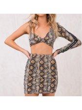 Sexy Serpentine High Waist Mini Wrap Skirt