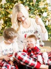 Euro Plaid Christmas Printed Pajamas Family Sets(3-4 Days Delivery)
